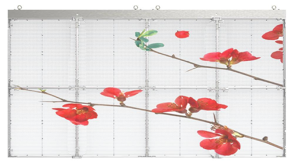 led screen transparent διάφανη οθόνη λεντ styled