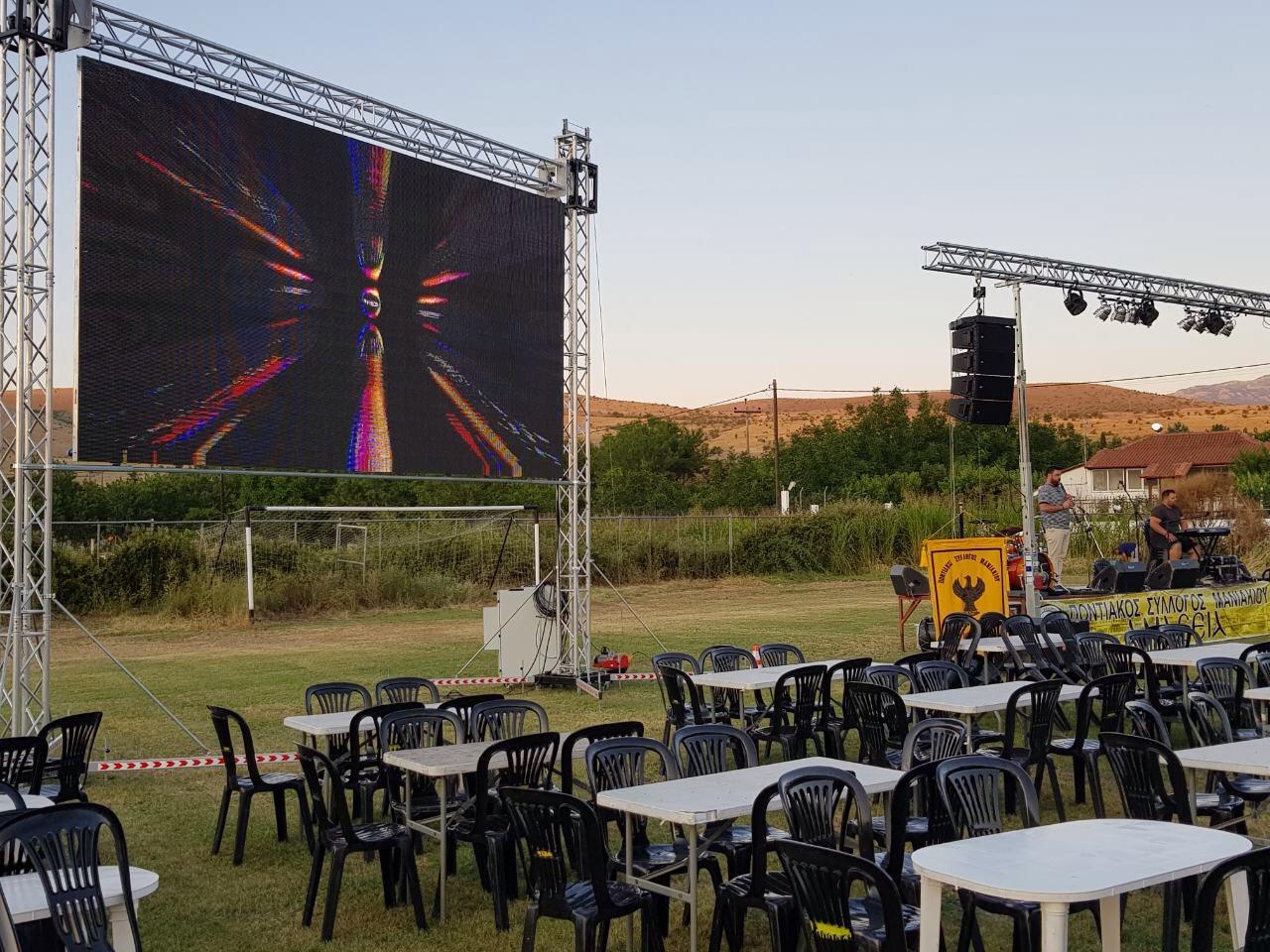 led wall rent on a concert ενοικιαση οθονης λεντ συναυλια