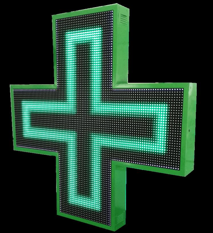 led panel custom made cross pharmacy σταυρος φαρμακείου