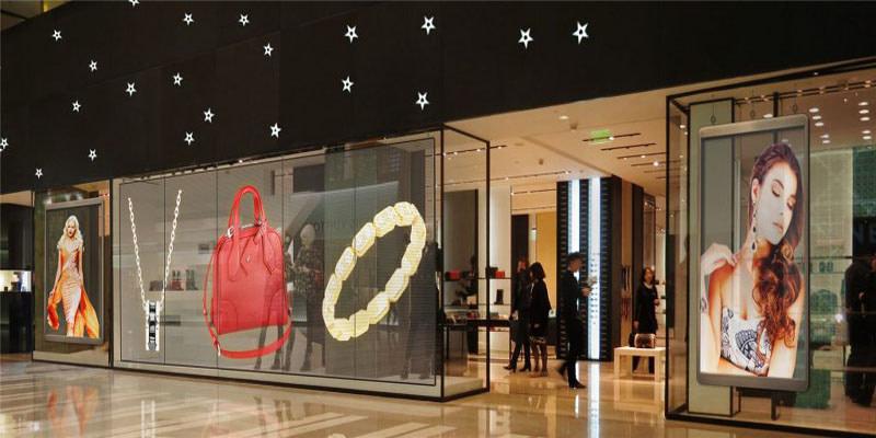 led screen transparent vitrine διάφανη οθόνη λεντ βιτρινα styled
